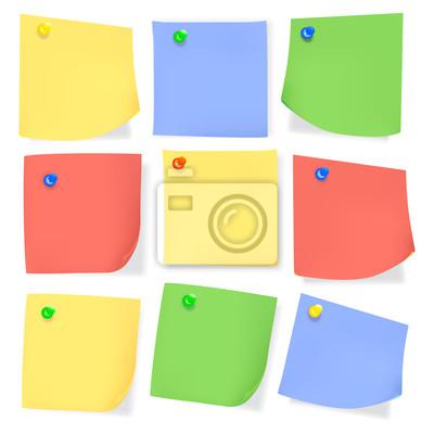 Papier de note de couleur