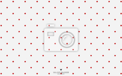 Papiers peints: Papier peint à pois blanc rouge