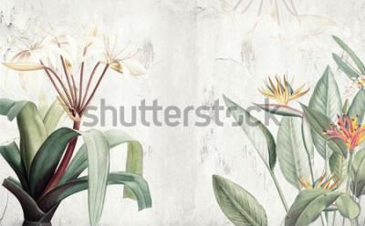 Papiers peints Papier peint Feuilles tropicales vertes amazoniennes