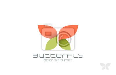 Papiers peints Papillon de vecteur de mode de conception de logo. Insecte icône Creative