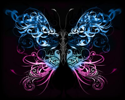 Papiers peints papillon en formes abstraites fiori