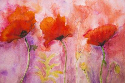 Papiers peints Papillons psychédéliques sur un fond rose.