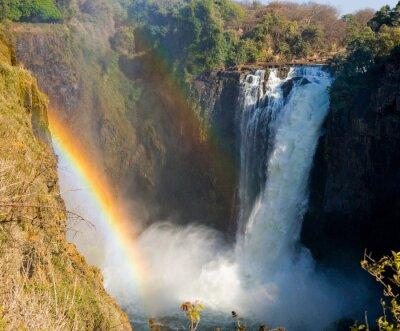 Papiers peints Parc national de Mosi-oa-Tunya. Et site du patrimoine mondial. Zambiya. Zimbabwe. Une excellente illustration.
