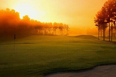 Papiers peints parcours de golf à l'aube