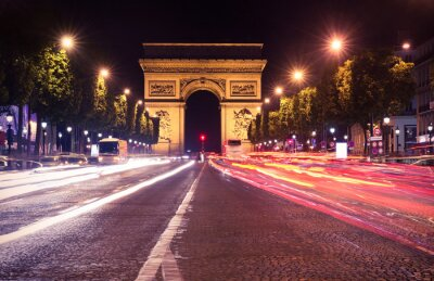 Papiers peints Paris, Champs-Elysées dans la nuit