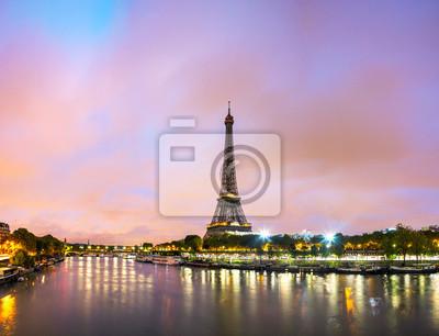Papiers peints Paris cityscape avec la tour Eiffel