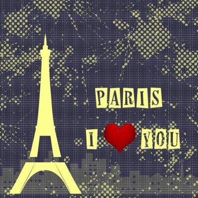 Papiers peints Paris - une ville de l'amour et du romantisme