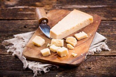 Papiers peints Parmesan, fromage, bois, planche