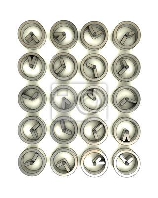 paroi rectangulaire fait de montres métalliques en acier