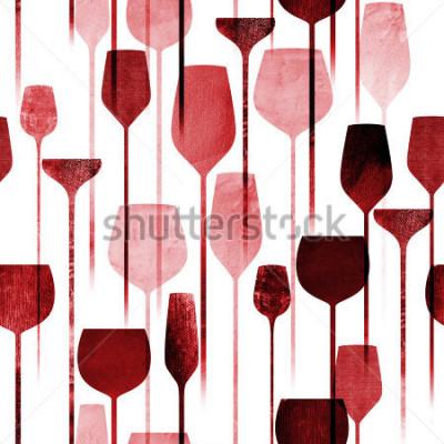 Papiers peints Parti de l'art de collage de papier texturé boissons modèle sans couture, boissons conceptuelles d'alcool coloré répétant l'arrière-plan pour le web et à des fins d'impression