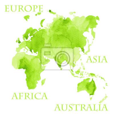 Carte Australie Sur Europe.Papiers Peints Partie De Carte Du Monde Europe Asie Afrique Et Australie Dans