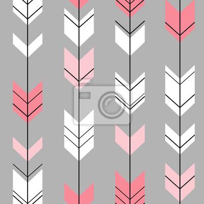 Pastel Fleche Ethnique Hipster Rose Blanc Gris Fond Papier