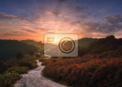 Papiers peints path in the mountains with beautiful sunset