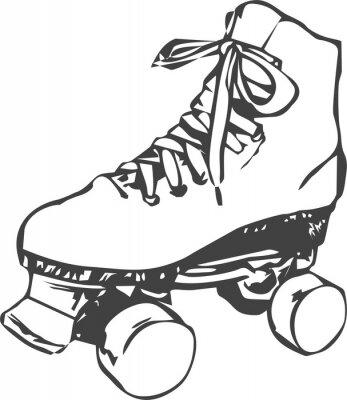 Papiers peints patin à roulettes