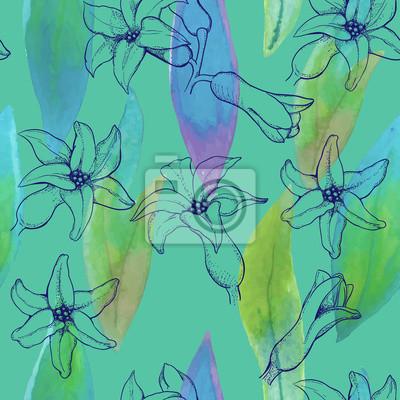pattern de fleurs de jacinthe