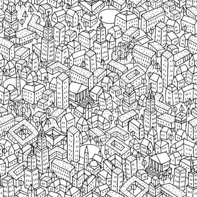 Papiers peints Pattern ville transparente