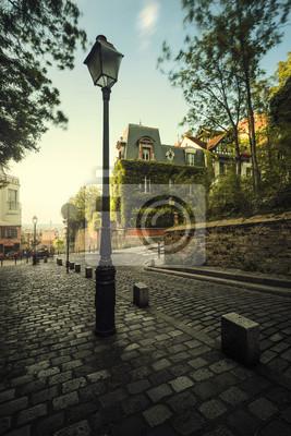 Papiers peints Pavée Rue de Paris with maison