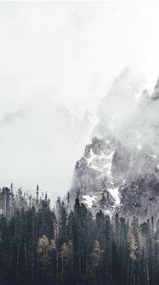 Papiers peints paysage brumeux en tatry