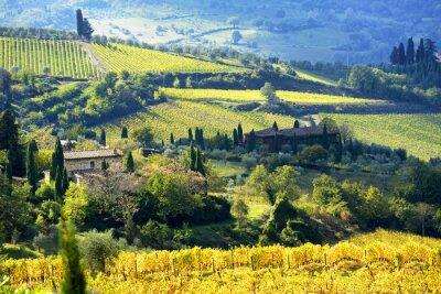 Papiers peints Paysage, Chianti, région, Toscane, Italie