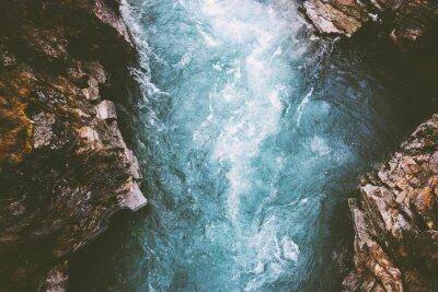 Papiers peints Paysage de canyon fluvial en Suède Parc national Abisko voyager vue aérienne nature sauvage paysages de mauvaise humeur