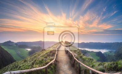 Papiers peints Paysage de montagne île de Ponta Delgada, Açores