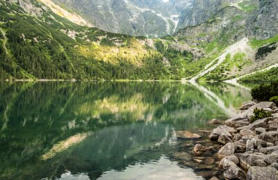 Papiers peints Paysage, montagne, Lac, fond, rocheux, montagnes