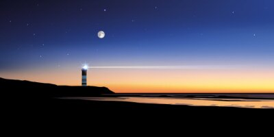 Papiers peints Paysage phare-mer