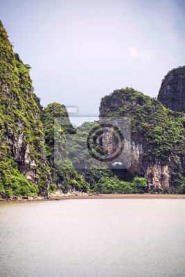Papiers peints Paysage pittoresque de la mer. Ha Long Bay, Vietnam