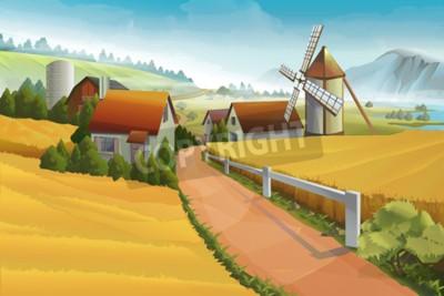 Papiers peints Paysage rural agricole