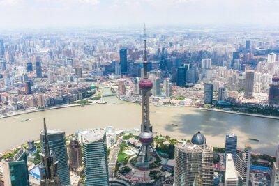 Papiers peints paysage urbain de Shanghai
