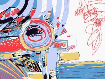 Papiers peints peinture abstraite numérique originale, texture d'art contemporain
