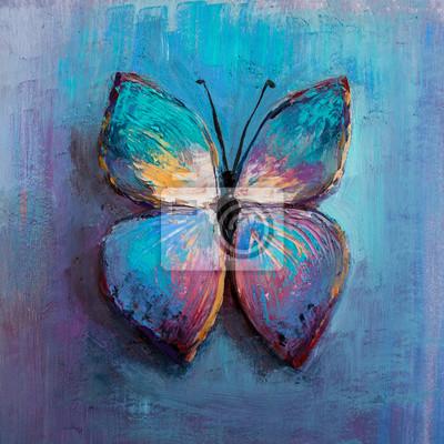 Papiers peints peinture abstraite papillon