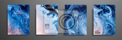 Papiers peints Peinture abstraite, peut être utilisé comme un fond à la mode pour les fonds d'écran, affiches, cartes, invitations, sites Web. Art moderne. Peinture effet marbre. Mélange de peintures bleues, rouges