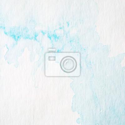 Papiers Peints Peinture Aquarelle Abstraite Bleue Texturée Sur Fond De  Papier Blanc