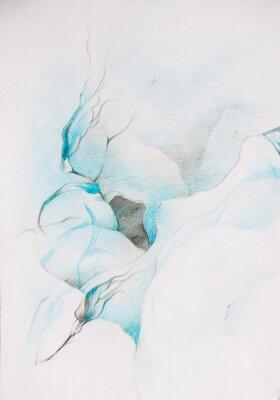 Papiers peints peintures bleues