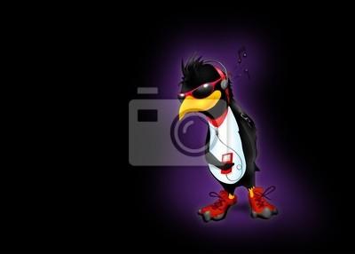 Penguin avec de la musique