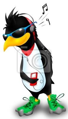 Penguin écouter de la musique