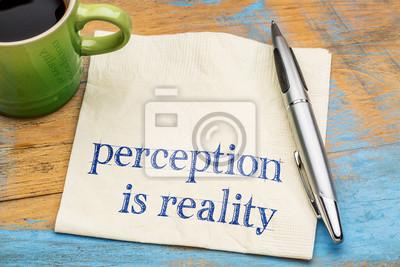 Papiers peints Perception est un texte de réalité sur serviette