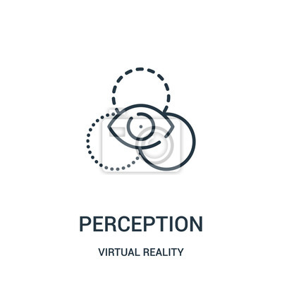Papiers peints perception icon vector from virtual reality collection. Thin line perception outline icon vector illustration.