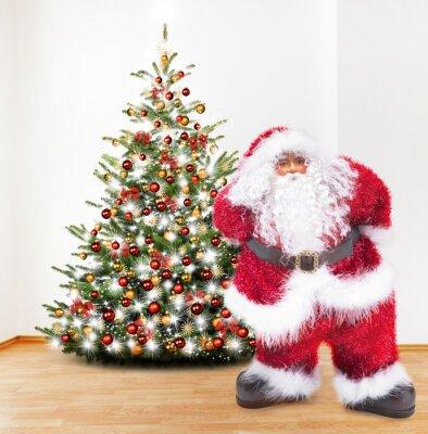 Père Noël avec l'arbre de Noël