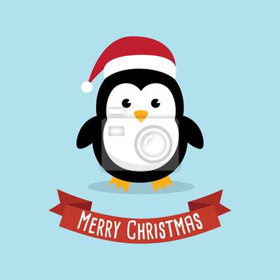 Personnage De Dessin Anime Pingouin Mignon Pingouins Porter Papier Peint Papiers Peints Noel Pingouin Antarctique Myloview Fr