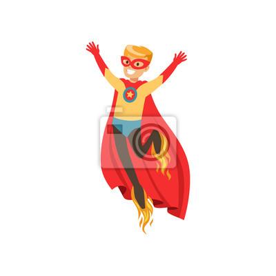Personnage De Garcon Super Heros Habille Comme Un Super Heros Papier