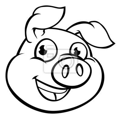 Cochon Dessin personnage de mascotte de cochon dessin animé papier peint • papiers