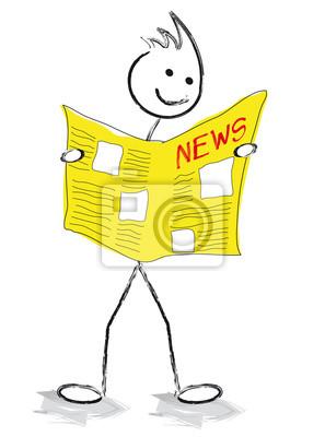 Personnage qui lit le journal papier peint papiers peints homme livre mes - Papier peint personnage ...