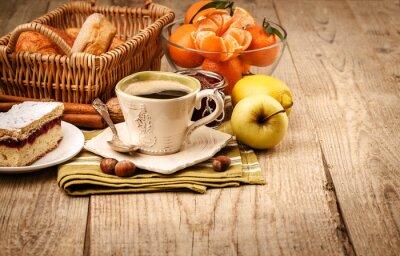 Papiers peints Petit déjeuner avec café et fruits