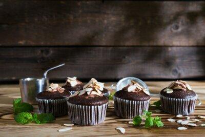 Petits gâteaux au chocolat avec amandes