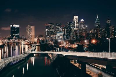 Papiers peints Philadelphie, Horizon, nuit, urbain, architecture.