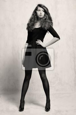 Robe noire petite fille