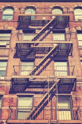 Papiers peints Photo vintage de style du bâtiment de New York, Etats-Unis.