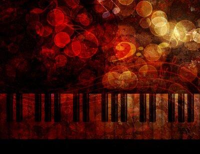Papiers peints Piano, clavier, grunge, fond, Illustration